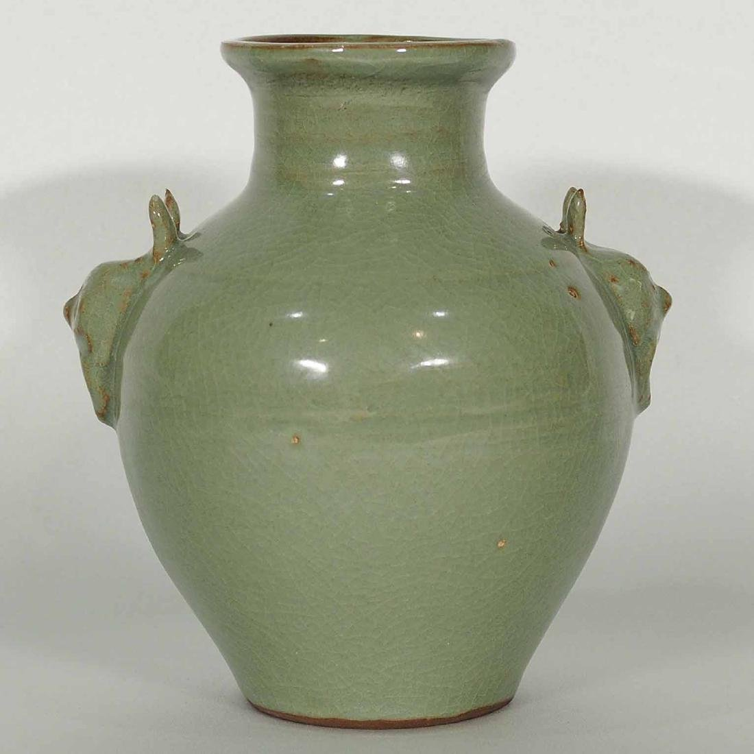 Longquan Hu-form Vase, Southern Song Dynasty