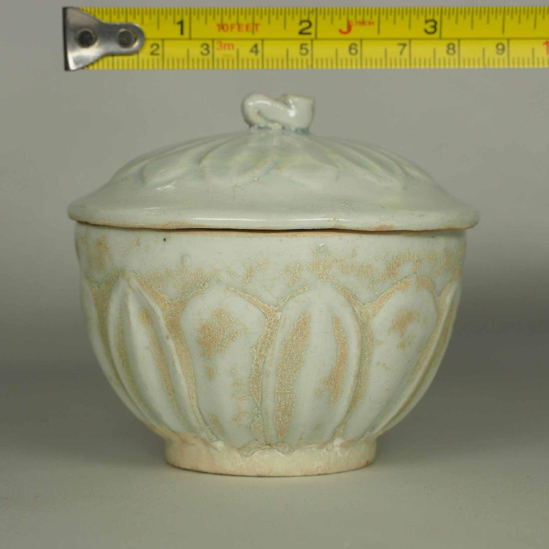 Qingbai Small Lidded Jar with Moulded Lotus, Song - 9