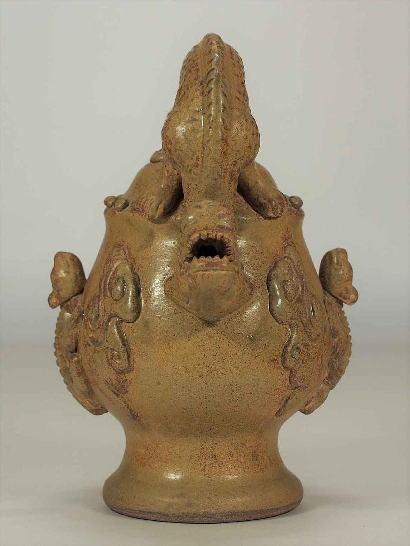 Celadon Reverse-Flow Ewer with Dragon Handle, Eastern - 5