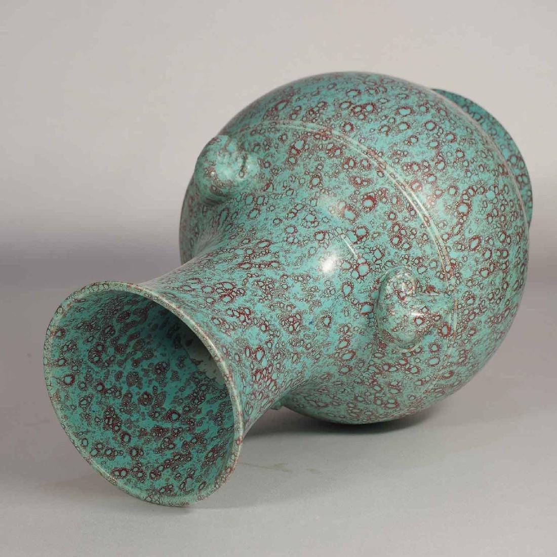 Robin Egg 'Hu' Vase with Ram-Heads, Qianlong Mark, late - 6