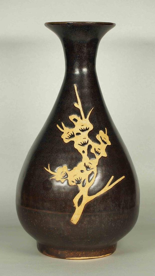 Jizhou Yuhuchun Vase with Cutout Prunus, Southern Song