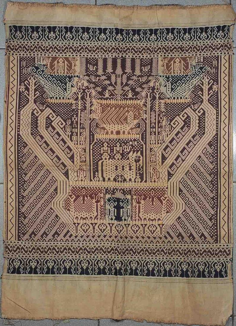 Old Carpet with Typical Lampung Design, Lampung