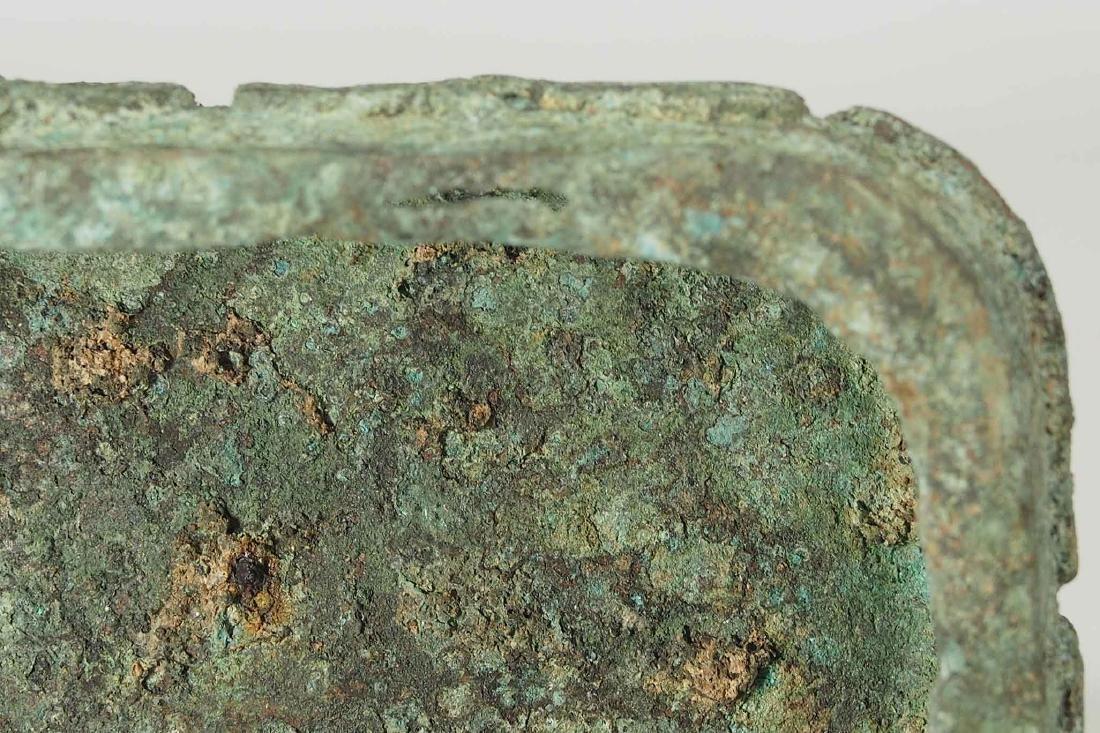 Lidded 'Fang Hu' Bronze Vessel with Dragon, late - 10