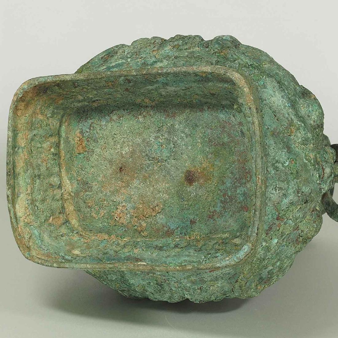 Lidded 'Fang Hu' Bronze Vessel with Dragon, late - 12