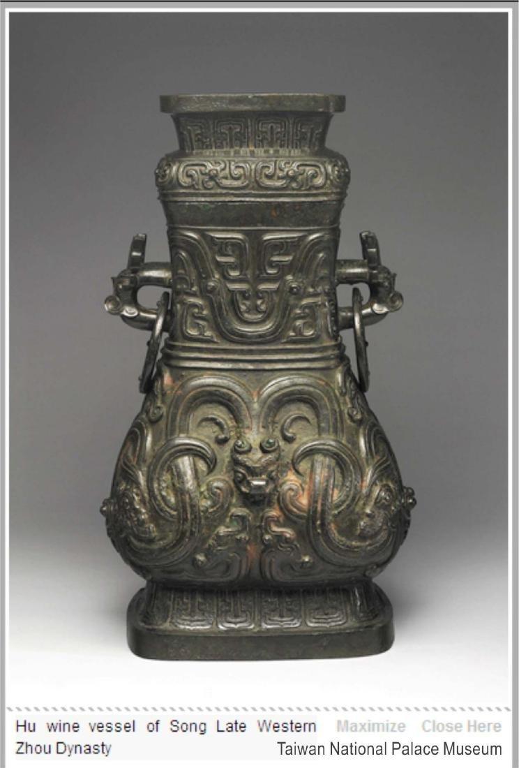 Lidded 'Fang Hu' Bronze Vessel with Dragon, late - 14
