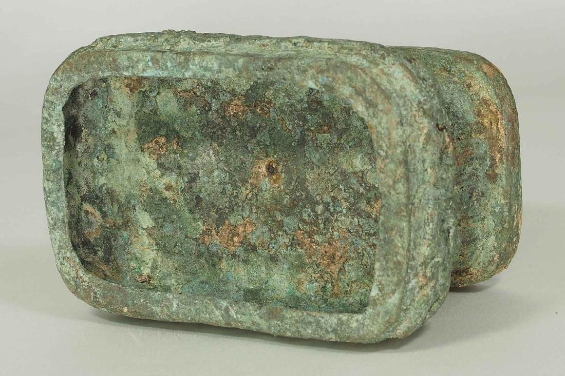 Lidded 'Fang Hu' Bronze Vessel with Dragon, late - 9