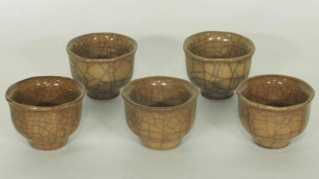Set of 5 Guan Cups, Song Dynasty