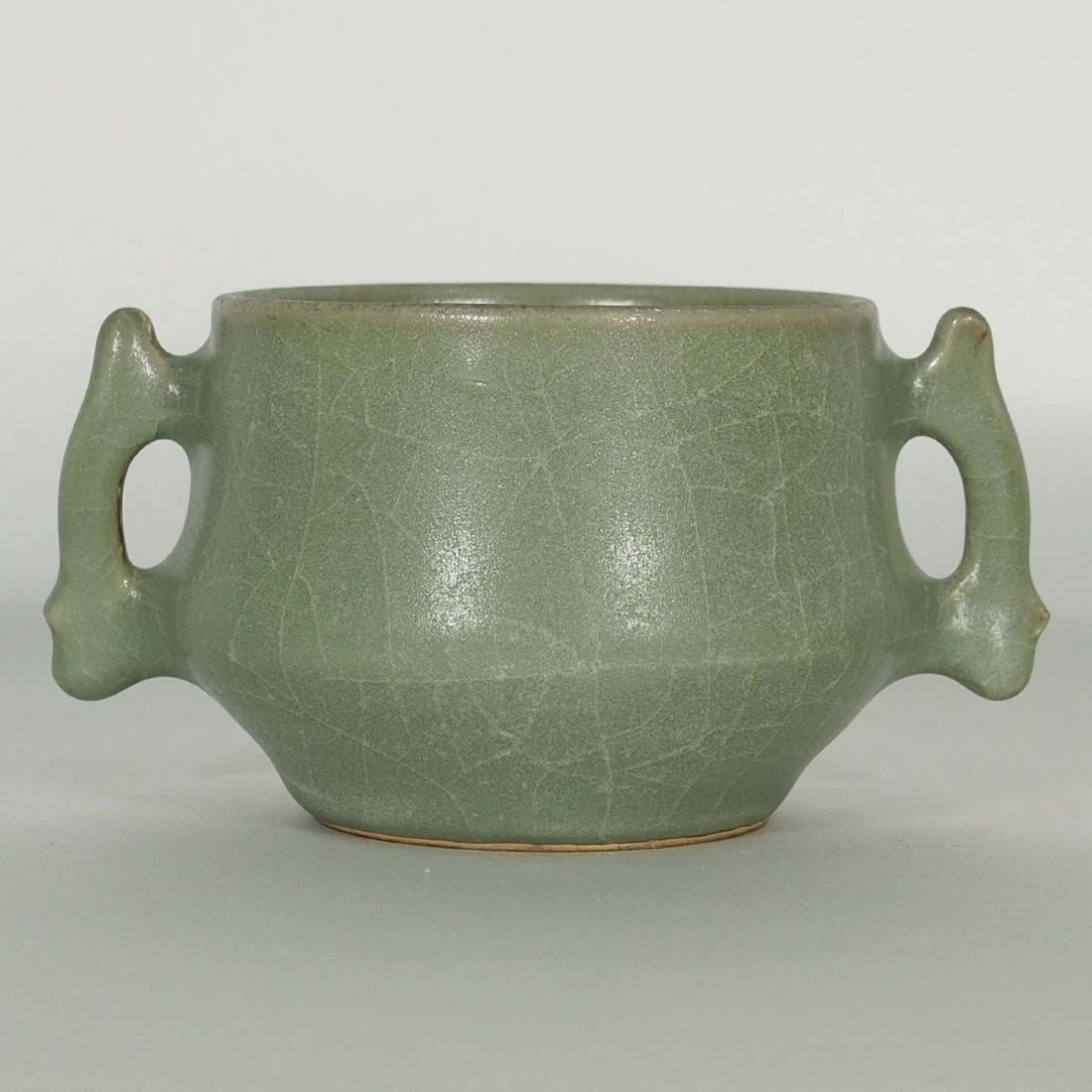 Longquan Crackled Censer with Handle, Song Dynasty - 2