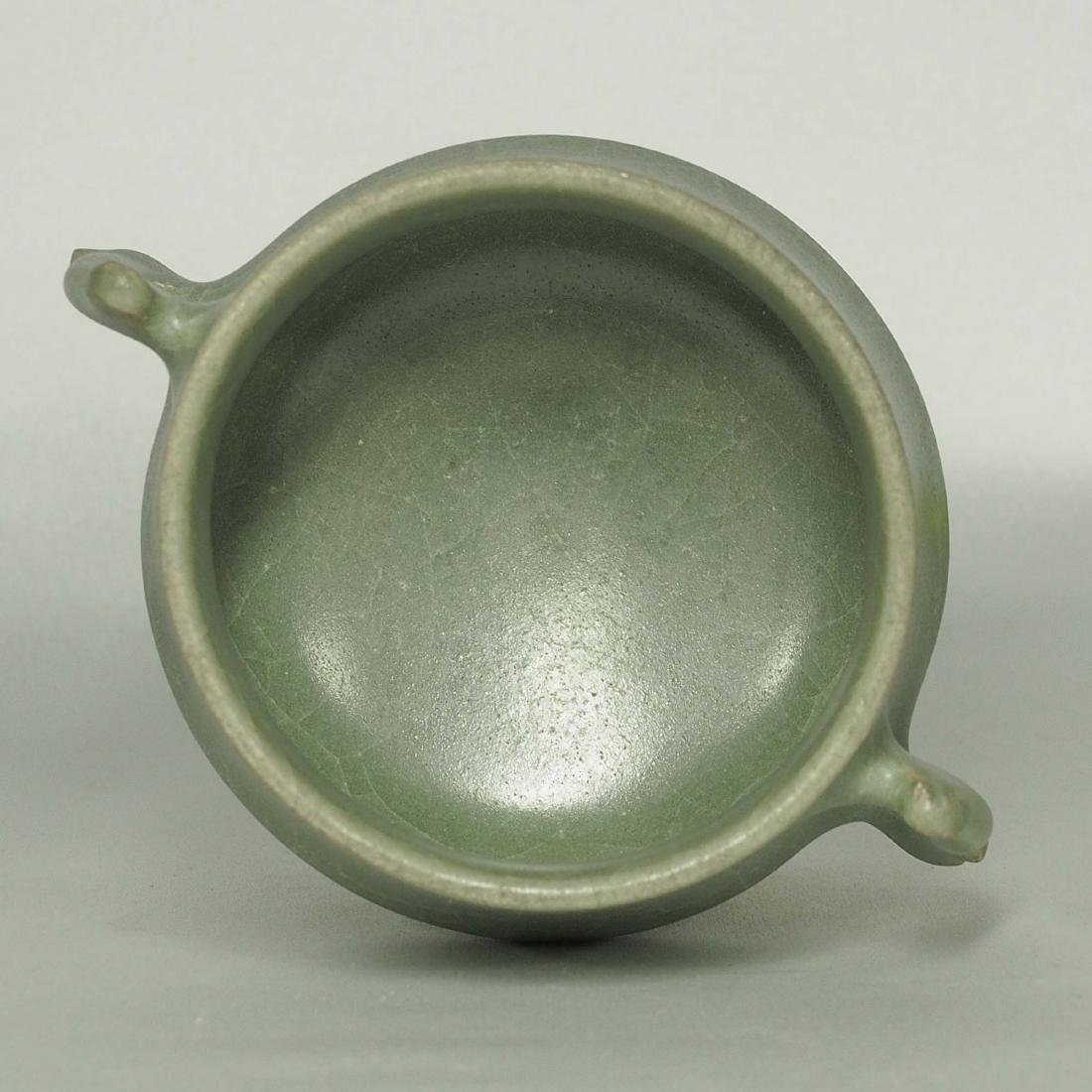 Longquan Crackled Censer with Handle, Song Dynasty - 4