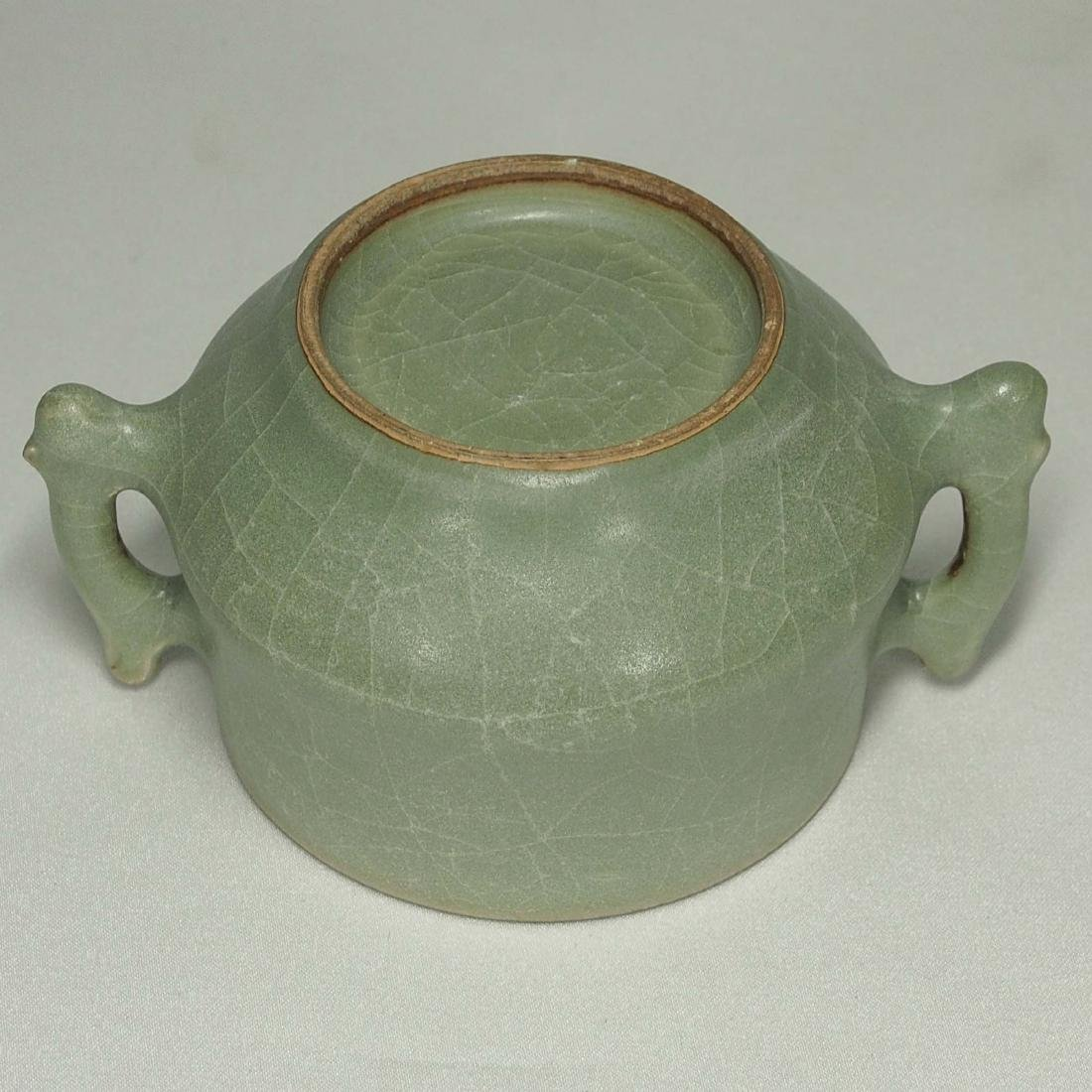 Longquan Crackled Censer with Handle, Song Dynasty - 5