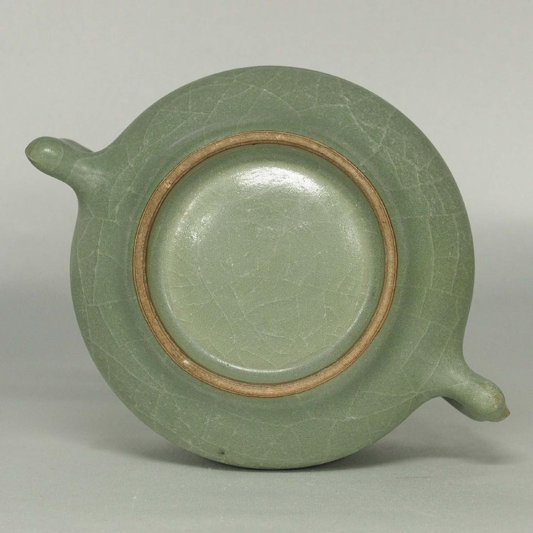 Longquan Crackled Censer with Handle, Song Dynasty - 6