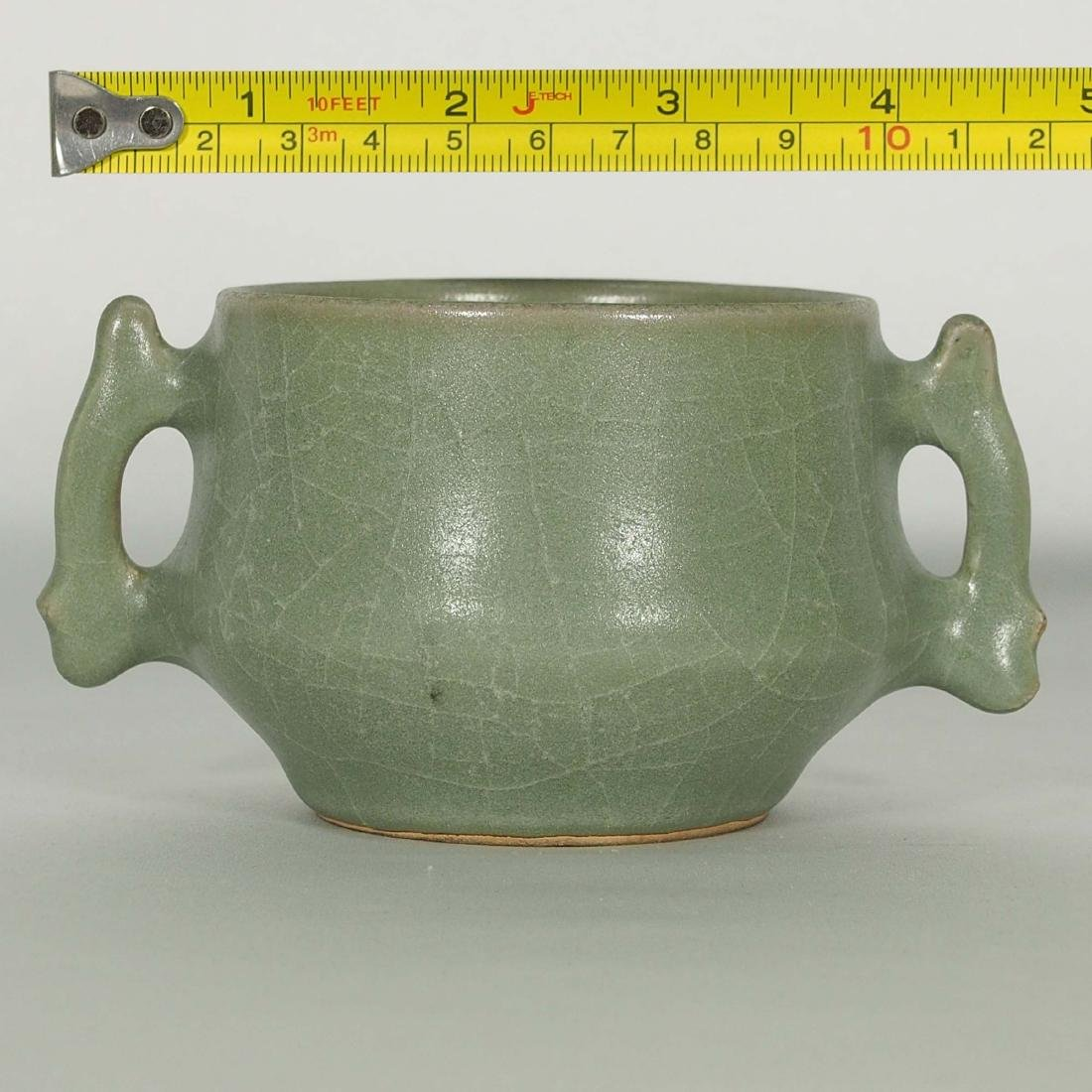 Longquan Crackled Censer with Handle, Song Dynasty - 8