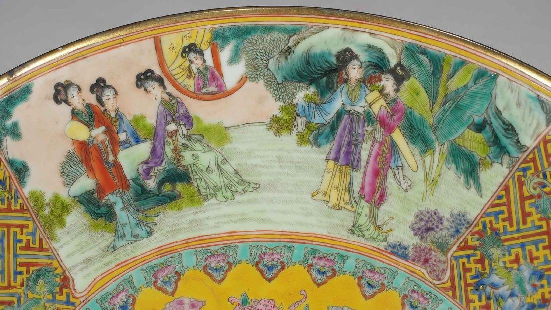 Massive Fencai Conical Bowl with Ladies Scenes, - 7