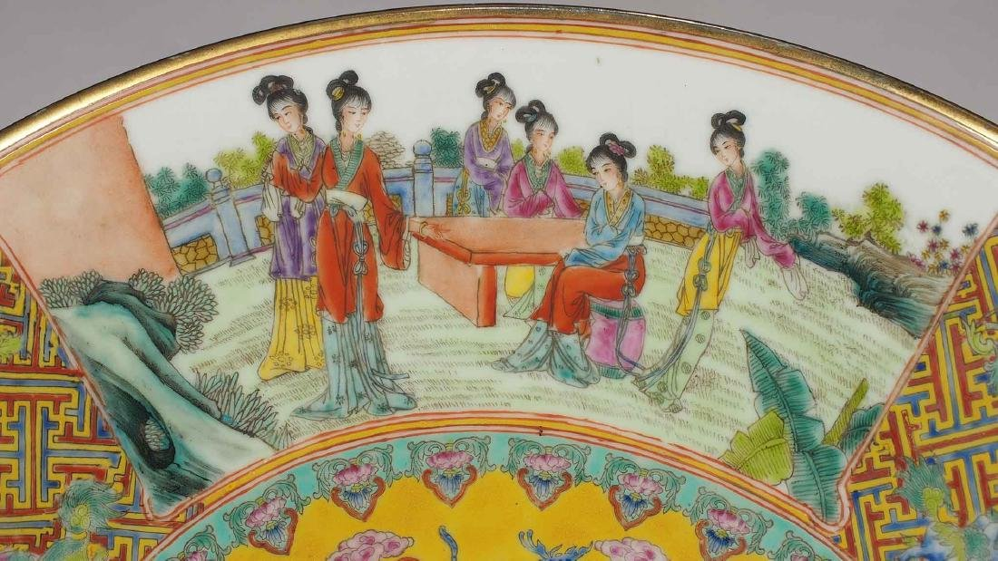 Massive Fencai Conical Bowl with Ladies Scenes, - 8