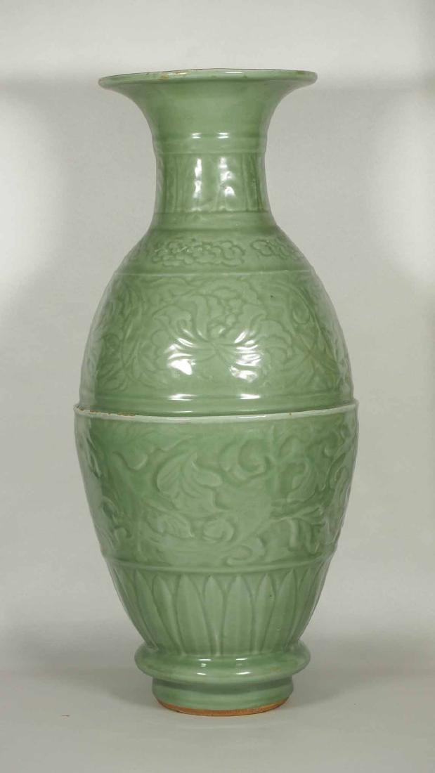 Massive Longquan Bottle Vase, Yuan-early Ming Dynasty