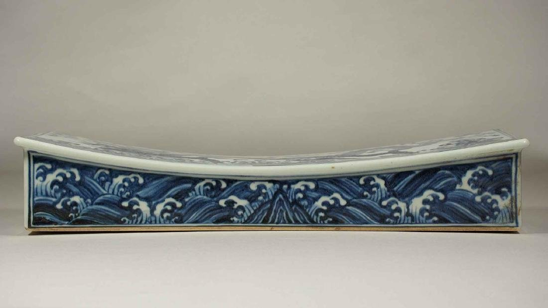 Pillow with Dragon above Waves, Xuande Mark, Ming - 3