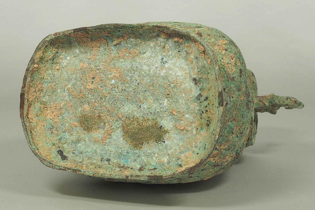 Fang Hu' Bronze Wine Vessel with Inscription, Western - 10