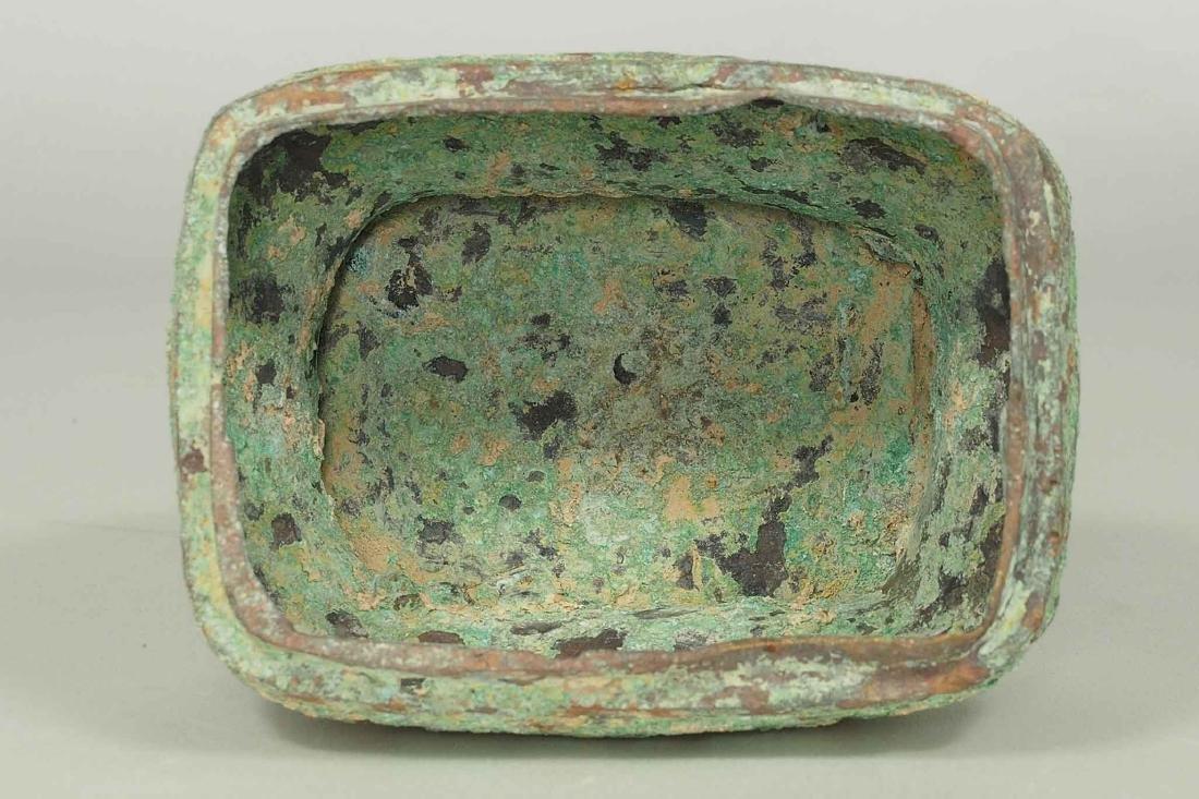 Fang Hu' Bronze Wine Vessel with Inscription, Western - 8