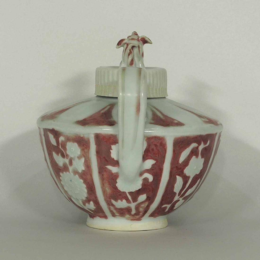 Half Round Ewer with Qilin Lid, Yuan Dynasty - 4