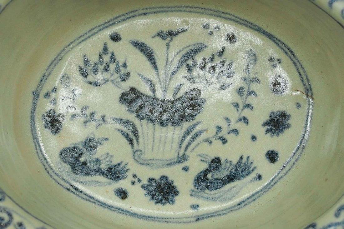 Foliated Rim Washer with Moulded Kids, Yuan Dynasty - 5