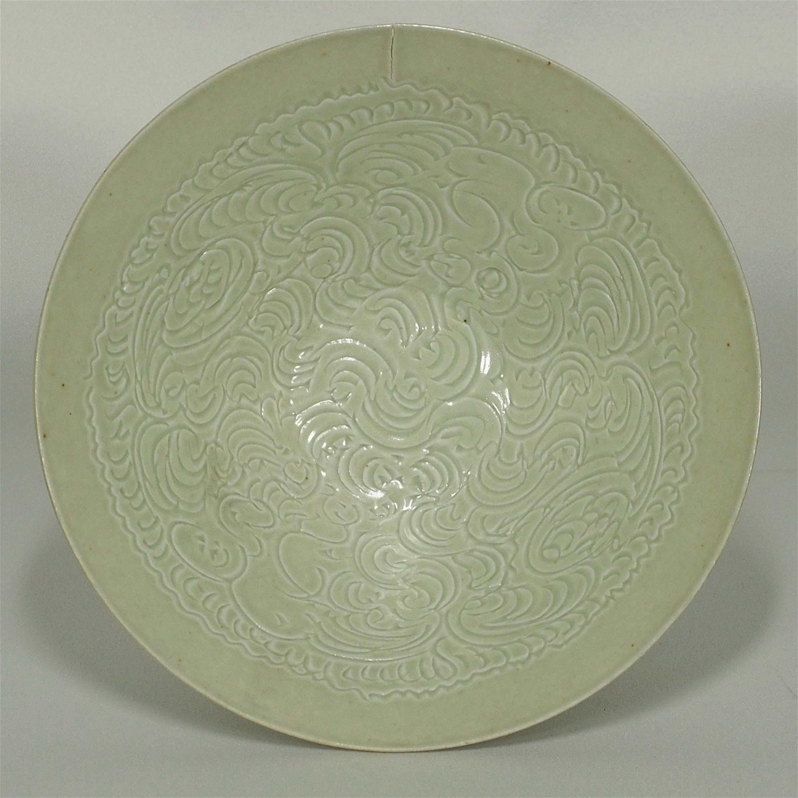 Qingbai Bowl with Incised Motif, Song