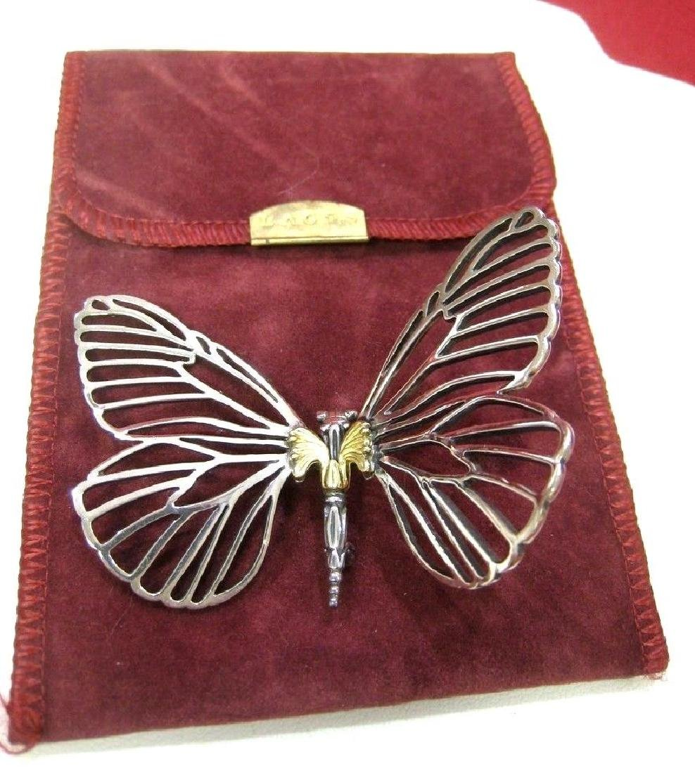 LAGOS 925 SILVER 18K GOLD CAVIAR COLLECTION BUTTERFLY