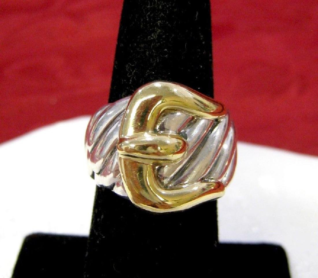 DAVID YURMAN 925 STERLING SILVER & 18K YELLOW GOLD