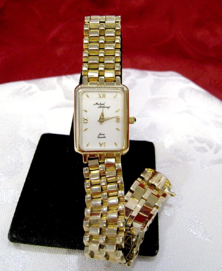 MICHAEL ANTHONY 14K YELLOW SOLID GOLD SWISS QUARTZ