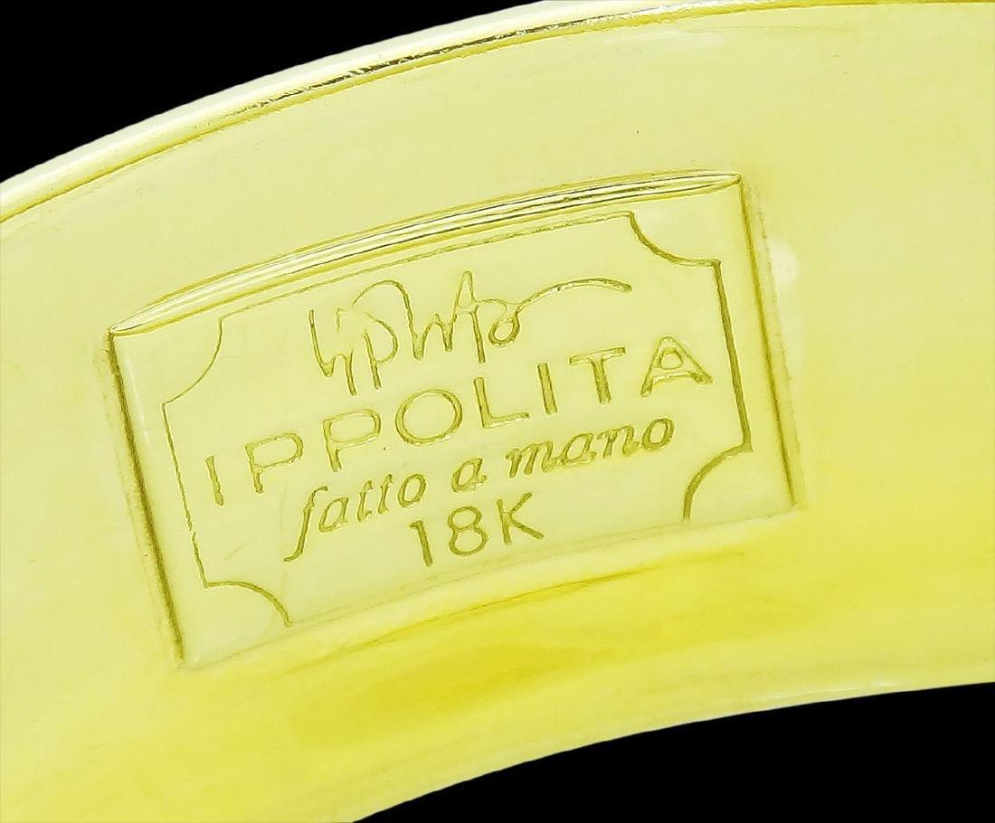 Ippolita 18k Yellow Gold 25mm Hammered Gladiator Cuff - 5
