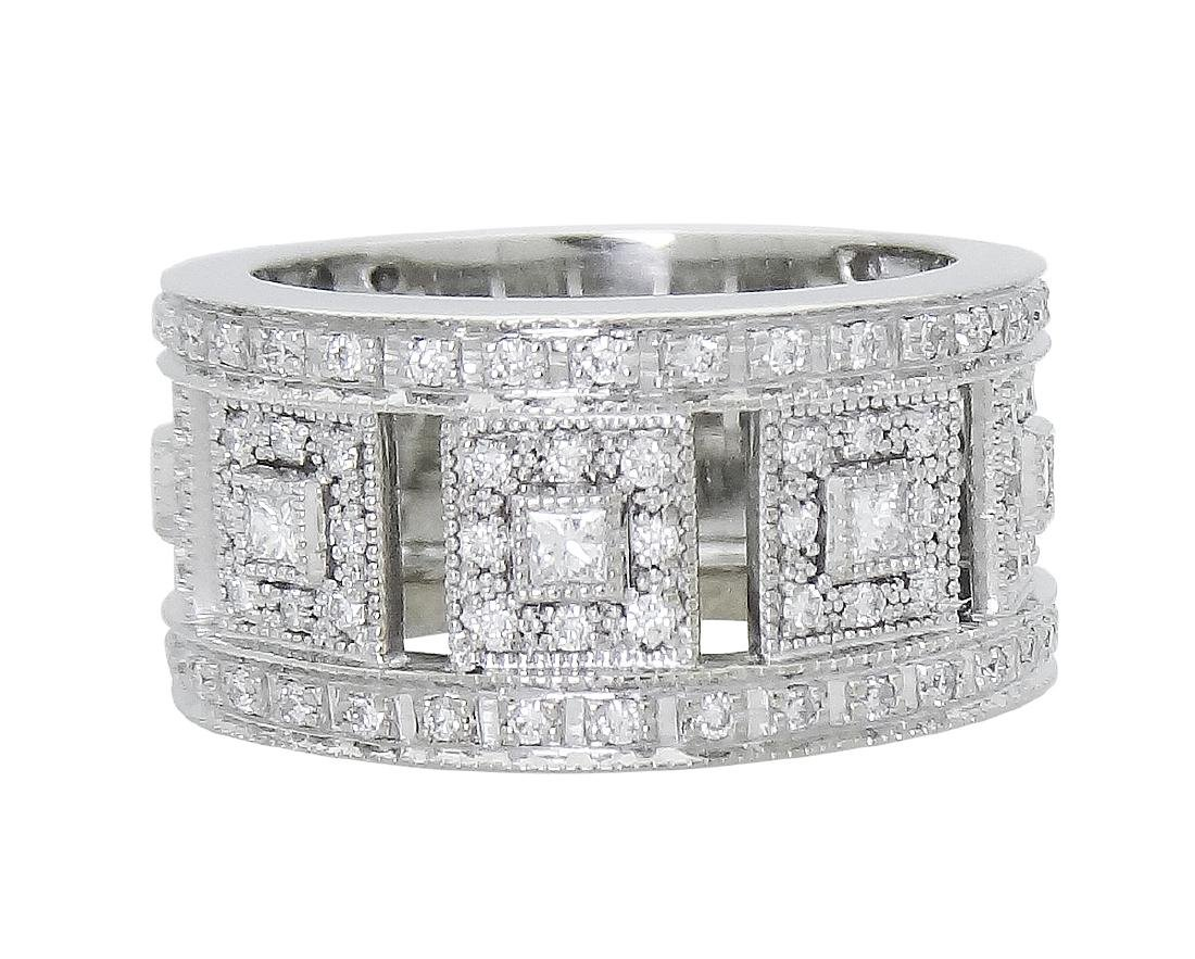 Charriol 18K White Gold Diamond ring size 6.5
