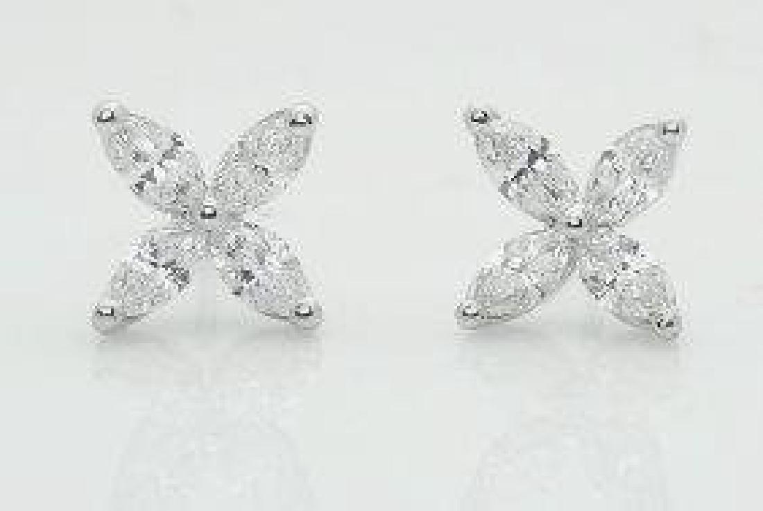 Tiffany & Co Victoria Platinum Diamond Stud Earrings