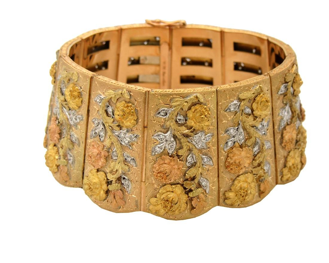 Estate Buccellati 18k Yellow Gold Wide Bracelet