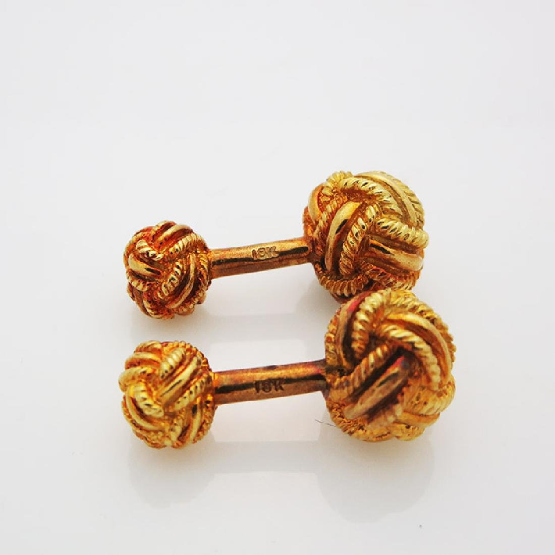 18k Yellow Gold Cuff links