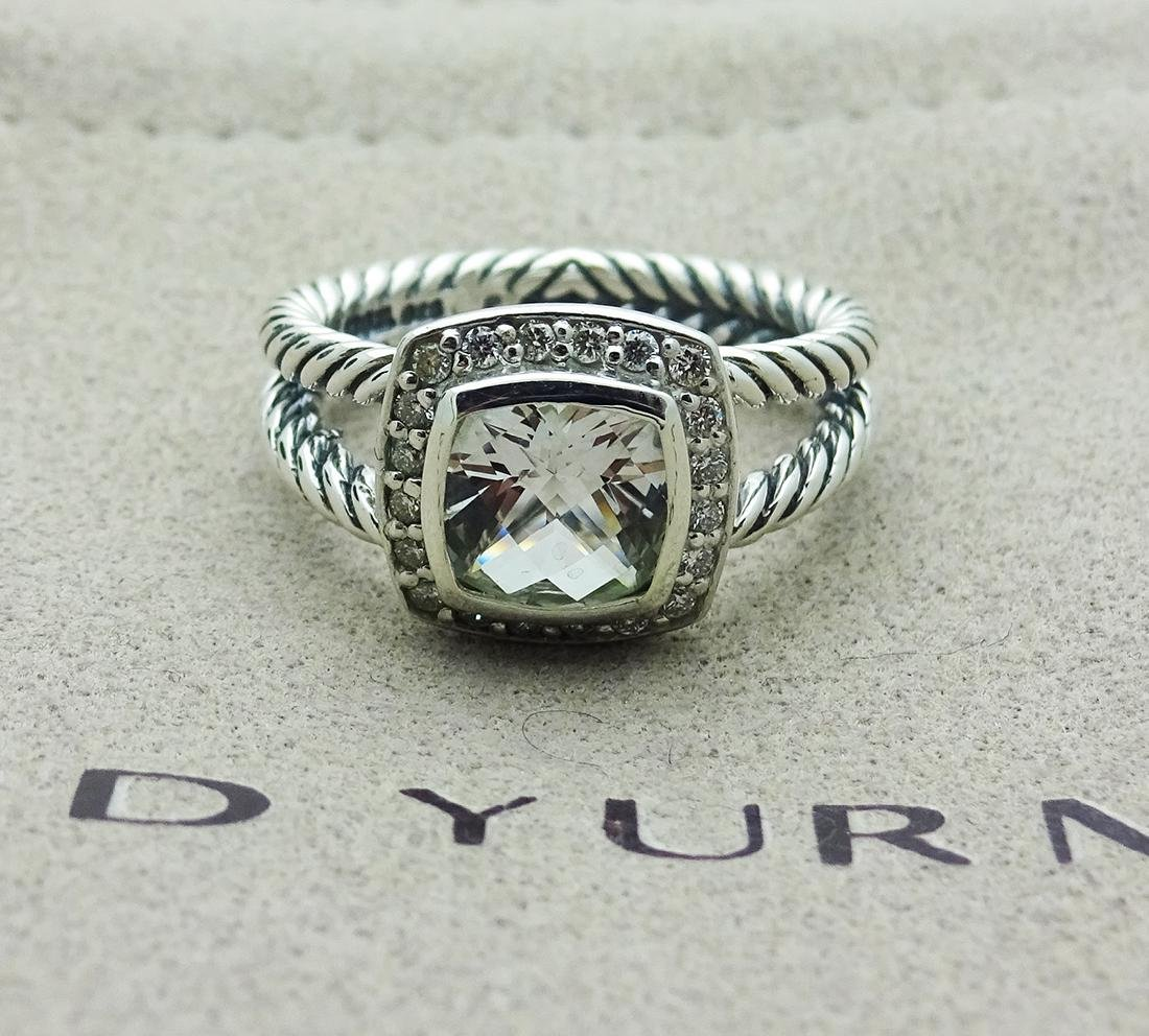 David Yurman Sterling Silver Petite Albion White Topaz