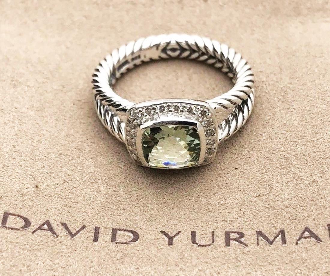 David Yurman Sterling Silver Petite Albion Prasiolite