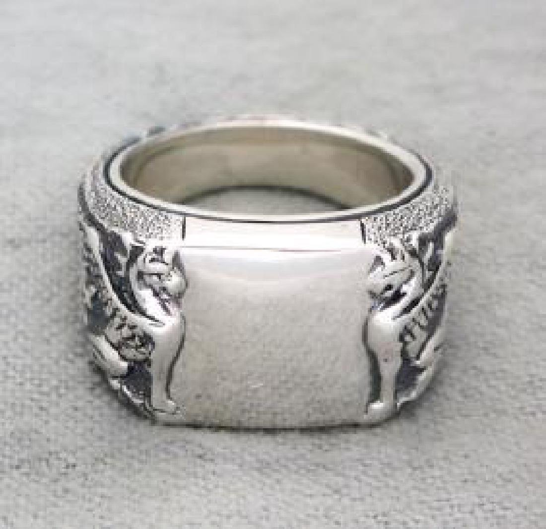David Yurman Sterling Silver Men's Petrvs Griffin Ring