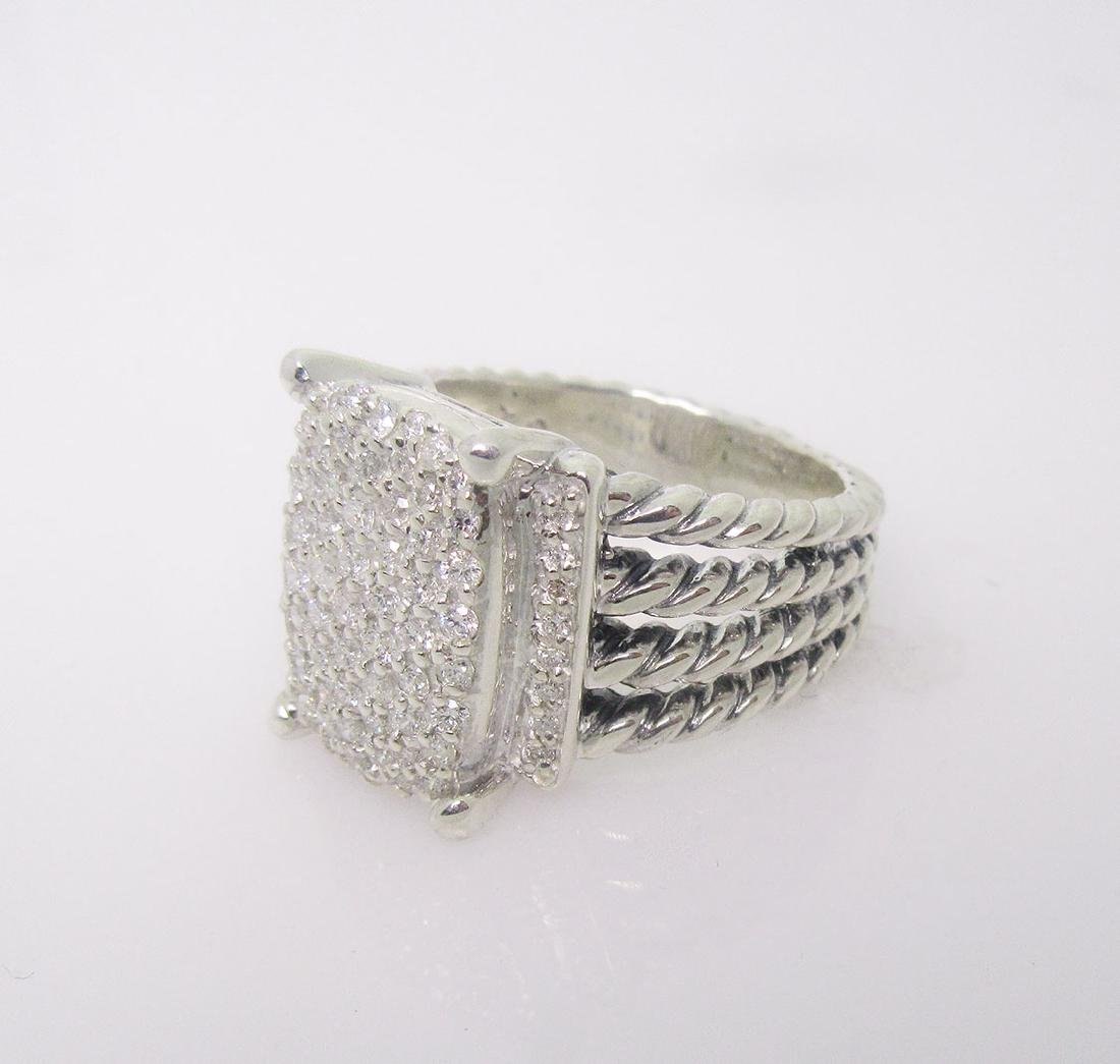 DAVID YURMAN 925 Sterling Diamond Wheaton Ring