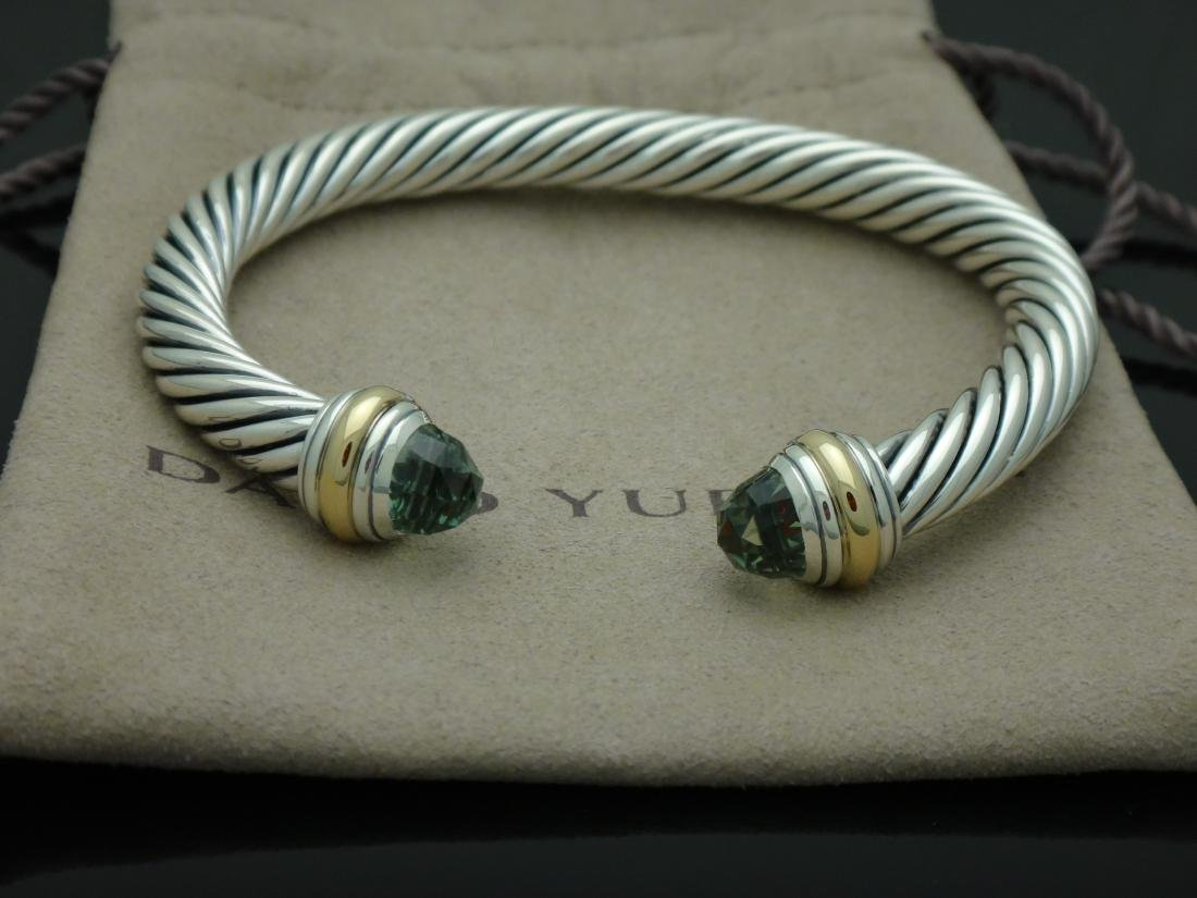 David Yurman Sterling 14k Gold 7mm Smokey Topaz