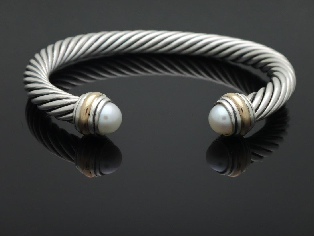 David Yurman Sterling Silver & 14k Gold 7mm Pearl
