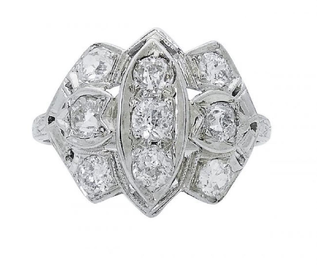 Estate 14 Karat and Approximately 1.25 TCW Diamond Ring