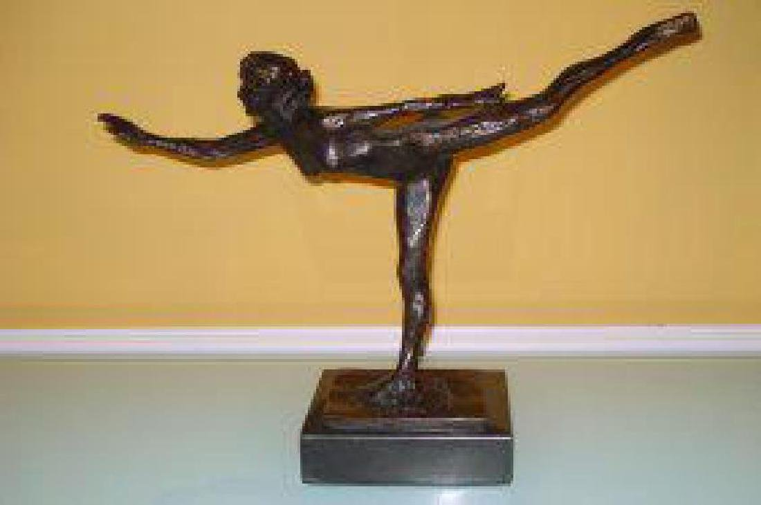 FRENCH EDGAR DEGAS BRONZE SCULPTURE OF NUDE DANCER