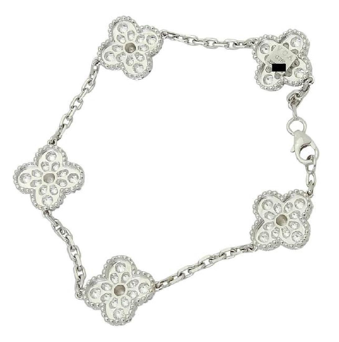Van Cleef & Arpels 18k Sweet Alhambra Diamond Bracelet - 2
