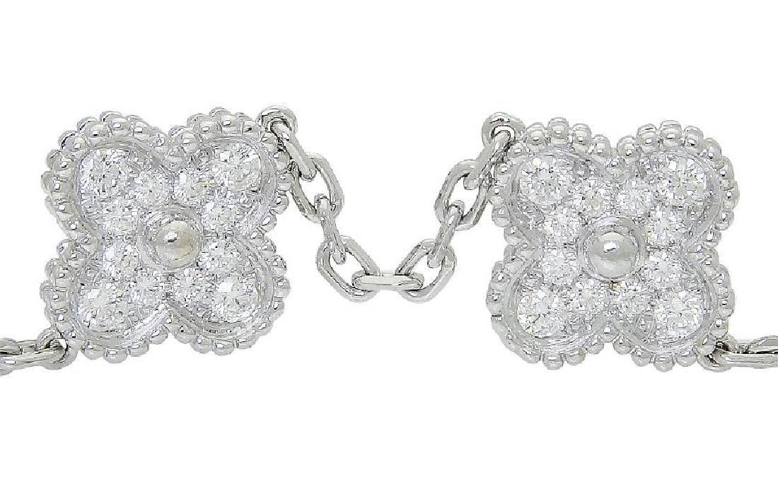 Van Cleef & Arpels 18k Sweet Alhambra Diamond Bracelet - 4