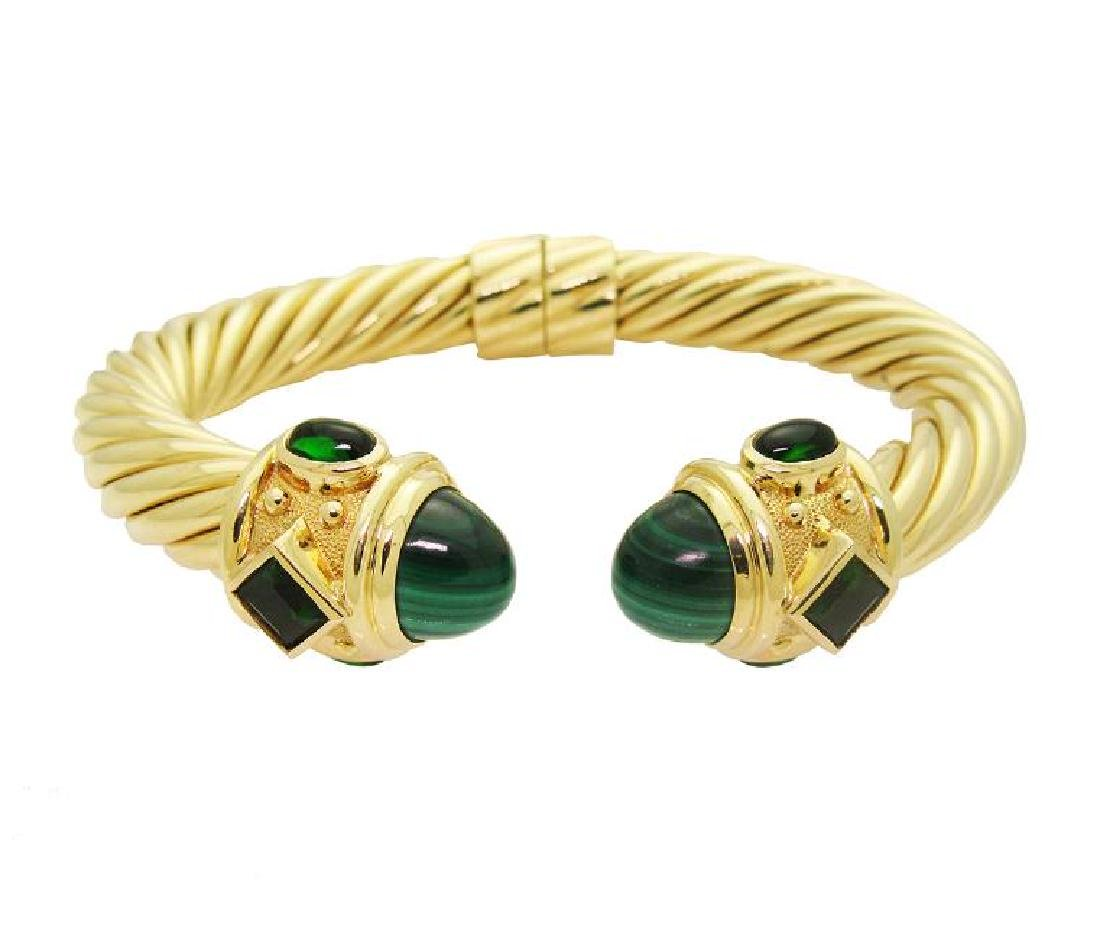 DAVID YURMAN 18k Renaissance Bracelet Malachite