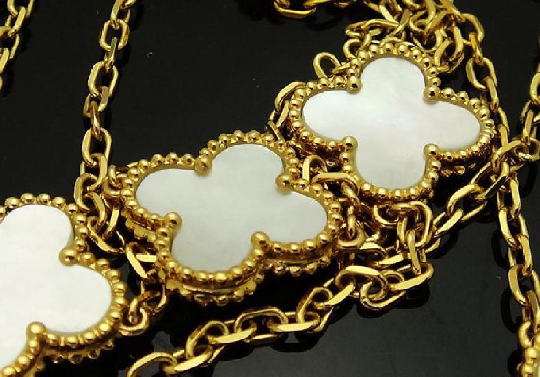 Van Cleef & Arpels Alhambra 18k MOP 16 Motifs Necklace - 4