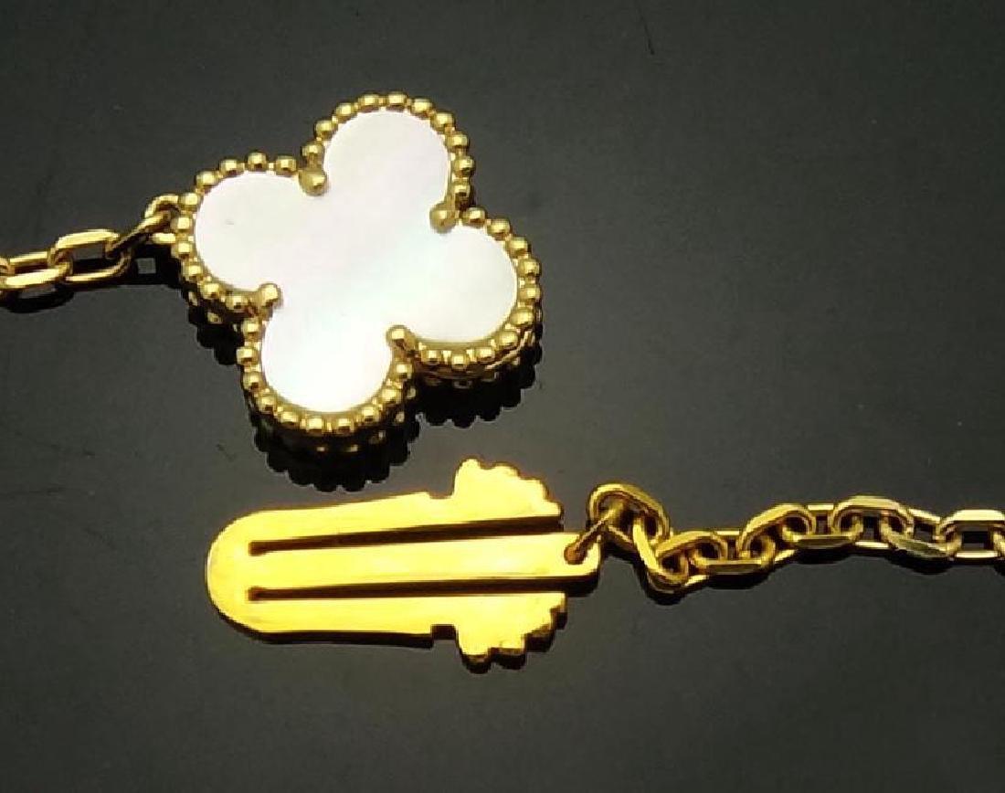 Van Cleef & Arpels Alhambra 18k MOP 16 Motifs Necklace - 5