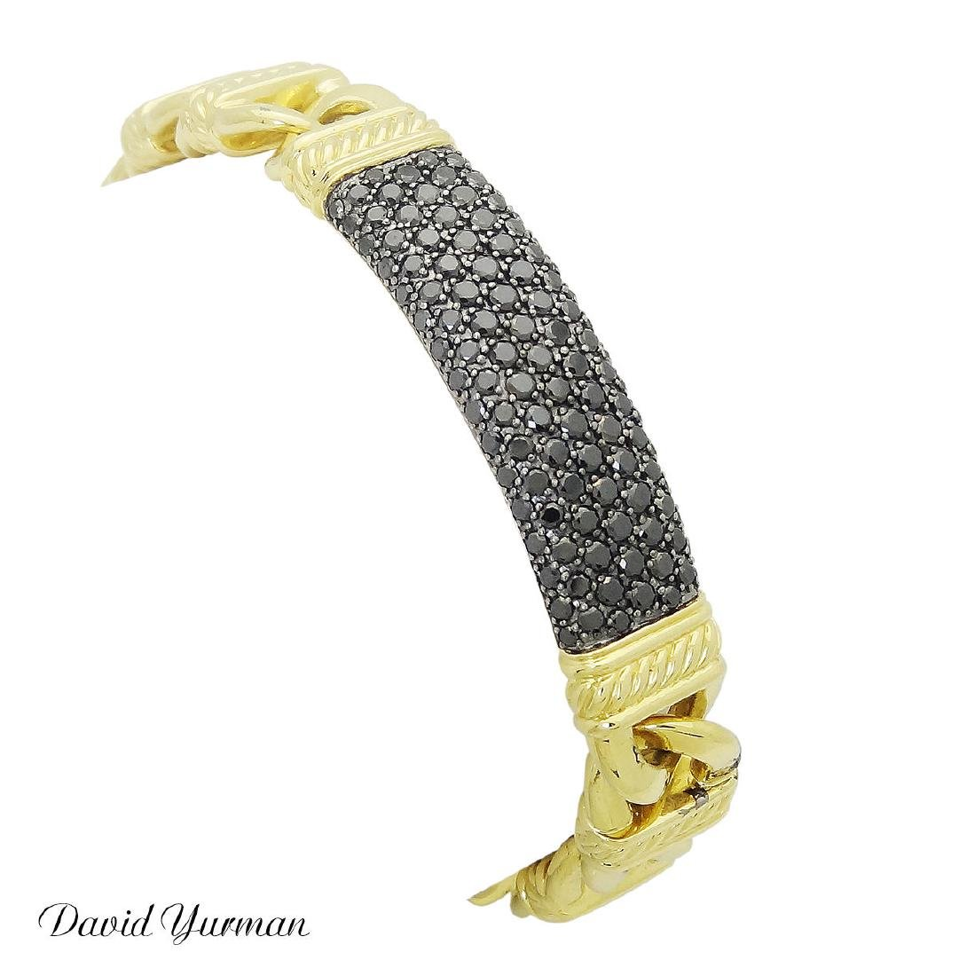 David Yurman Madison 18kGold & 3.30 TCW Black Diamond