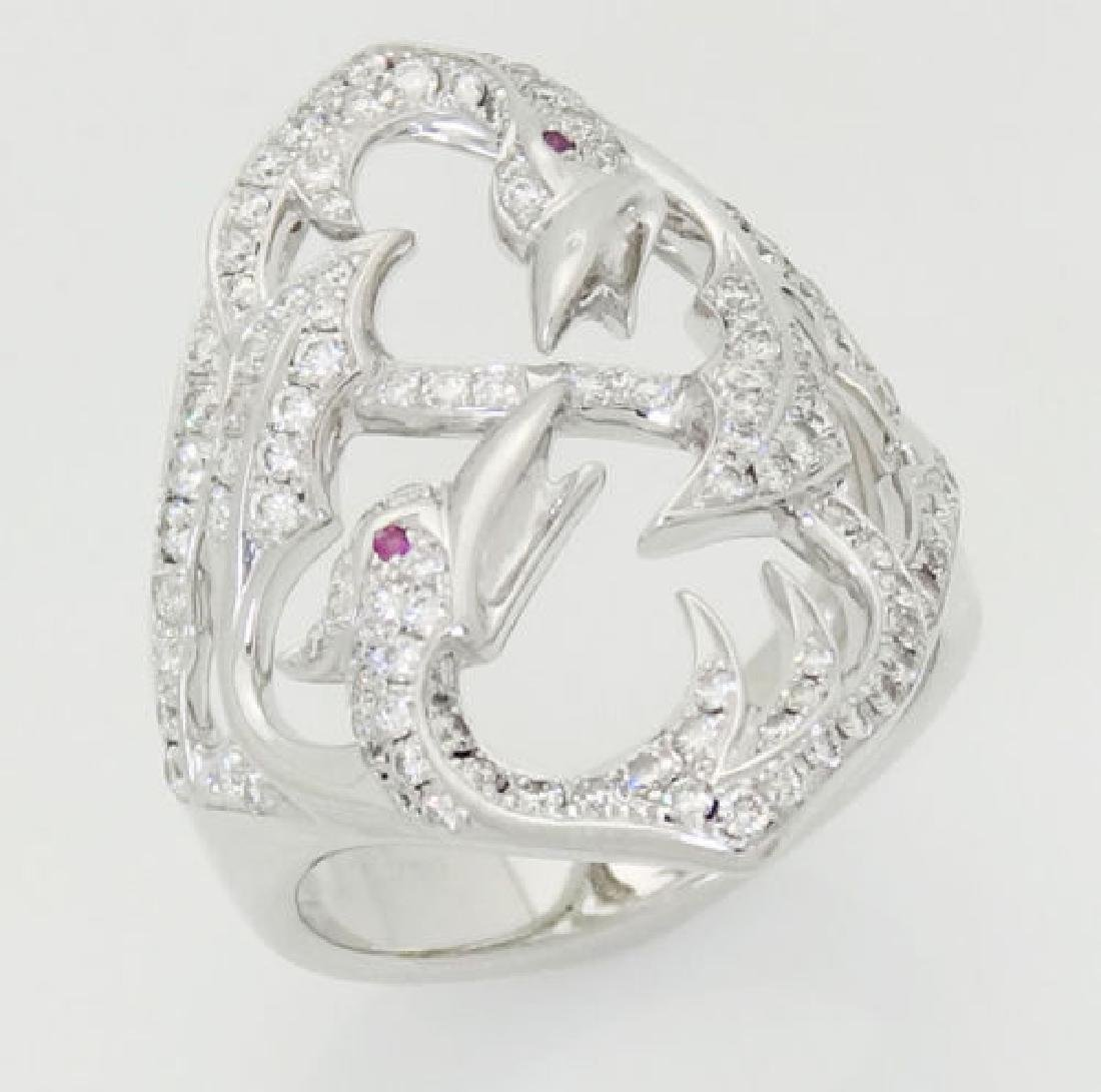 Stephen Webster 18k Round Cut Diamond Birds Ring