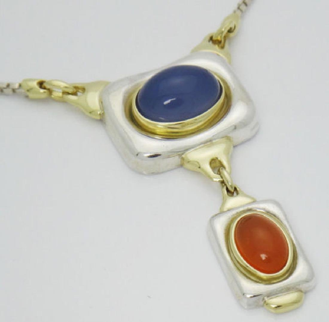 Robert Lee Morris Multi Color Multi Stone Necklace