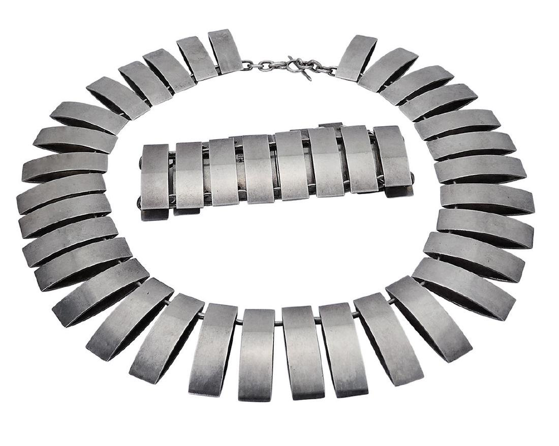 Georg Jensen Sterling Silver Bracelet & Necklace Set